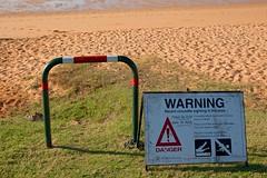 crocodile warning (sunphlo) Tags: sign warning crocodile kimberley westernaustralia broome sighting roebuckbay townbeach