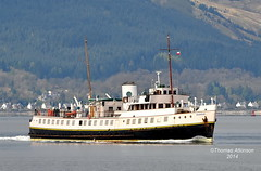 BALMORAL, with Dunoon in the background  Taken in 2012,  please do not use my photos without my permission (Time Out Images) Tags: scotland clyde united kingdom gourock balmoral firth dunoon inverclyde
