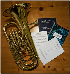 Day 23 of 365 - Decisions, decisions (Brian The Euphonium) Tags: music band photoaday brass euphonium 23365 2014pad