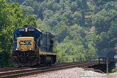 Lone Tugboat (imartin92) Tags: railroad train westvirginia magnolia locomotive ge csx b367 magnoliabridge magnoliacutoff cumberlandsubdivision grahamtunnel