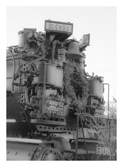 No 1308 Portrait (trainmann1) Tags: bw classic photoshop nose blackwhite nikon huntington engine front historic wv westvirginia co handheld locomotive desaturated nikkor amateur steamlocomotive 18200mm d90 cs6 1308 2662