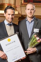 Charlie Herolf och Niklas Englund från Försvarsmakten, nominerad till Web Service Award 2013 i klassen Samhällskommunikation.