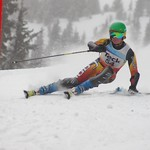 Big White Racer Ryan Moffat in action at Teck Enquist Slalom, Apex Mountain Resort PHOTO CREDIT: Derek Trussler