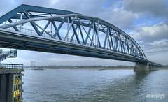 Railway bridge Nijmegen (stevefge) Tags: netherlands nijmegen nederland bridges railway rivers paysbas waal
