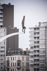 The Jumper (gambajo) Tags: street city urban sculpture art monument architecture belgium liège belgien lüttich walloonregion phonar phonarnation