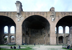 Basilica of Maxentius and Constantine, centered view