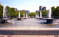 The Mall, 1982 (Thom Sheridan) Tags: old vintage downtown fountains clevelandskyline thomsheridan