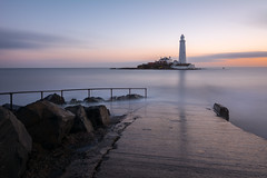 St Mary's March 2014 (Callaghan69) Tags: uk longexposure sea lighthouse seascape sunrise landscape island nikon scenery landmark icon le northsea slowshutter iconic whitleybay tynewear tyneandwear stmaryslighthouse beautifulearth d7100 beautyofwater tokina1116 haida10stop