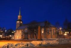Norway Arctic - Tromso / Troms Cathedral (JRJ.) Tags: city winter church norway norge cathedral arctic bluehour tromso troms hurtigruten lumixgx7