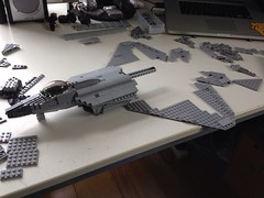 How are my proportions looking so far? (Retroshark) Tags: plane lego aircraft military jet raptor f22 custom moc foghter uploaded:by=flickrmobile flickriosapp:filter=nofilter