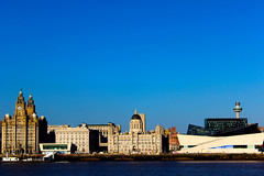 Liverpool Docks (Bosca Fotograf) Tags: city seascape building museum liverpool docks radio canon boats photography three cityscape royal bluesky liver mersey graces 600d
