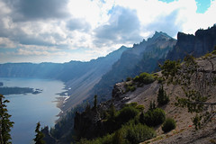 Crater Lake (joshvanderzanden) Tags: trees sky water clouds oregon landscape lakes pacificnorthwest craterlake nationalparks