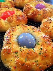 Easter Bread 109/365 (FrankPerrone) Tags: easter bread sprinkles eggs baked