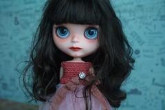 Starling (umami_baby) Tags: dark miniature doll goth starling blythe freckles collectible etsy brunette artdoll gypsy fashiondoll customizeddoll dollhouse customblythe umamibaby
