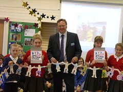 "Stephen Mosley MP receives a Send My Friend To School chain from Year 6 pupils at Belgrave Primary School • <a style=""font-size:0.8em;"" href=""http://www.flickr.com/photos/51035458@N07/14104425719/"" target=""_blank"">View on Flickr</a>"