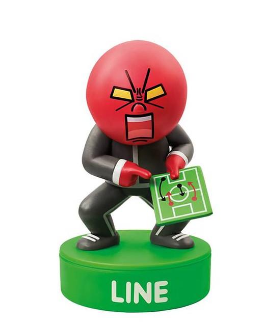 Line X 香港 7-11 Line角色足球粉絲印章公仔