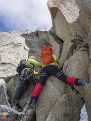 Final scramble (HendrikMorkel) Tags: mountains alps mountaineering chamonix alpineclimbing arêtedescosmiques arcteryxalpineacademy2015