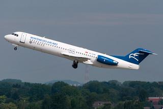 4O-AOM - Montenegro Airlines - Fokker 100 *Dukley sticker*