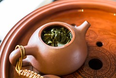 In the pot. Tea Leaf in Tea Pot for Tea Time Chinese style (darkmasterxxx) Tags: tea chinese pot teatime tealeaf