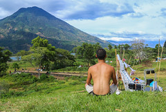 Meditations (Kelsie DiPerna) Tags: travel portrait lake latinamerica festival yoga america canon volcano guatemala central adventure backpacking meditation centralamerica lakeatitlan volcán centroamerica volanoes canon6d cosmicconvergence