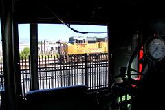 UP Diesel Meets SP Steam (craigsanders429) Tags: tucsonarizona tucson unionpacific up3789 unionpacific3789 sounthernpacific1673 sp260no1673 steamlocomotives steamlocomotivecab southernarizonatransportationmuseum