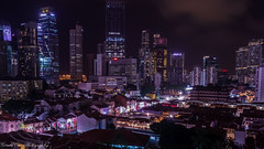 Chinatown - The New & The Old World (Gerald Ow) Tags: geraldow singapore chinatown south bridge road sony a7rii a7r2 fe 1635mm f4 za oss night photography long exposure flickr cbd central business district hong lim complex