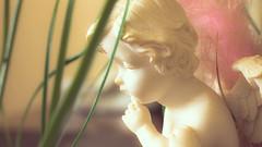 La réflexion de l'ange (_Wrathen_) Tags: ange angel dream réflexion thinking rêve vintage chérubin canon 50mm cherub