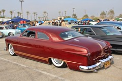 Mooneyes X-Mas Party 2016 (USautos98) Tags: 1949 ford shoebox leadsled traditionalhotrod streetrod kustom scalloppaint