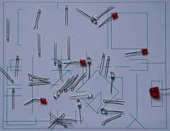 1e046 Semiconductors with line (tonyfield220) Tags: electronics led leds drawing light line linear plane minimal