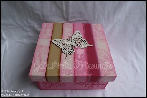 """Caixa para lembranças de despedida de solteira """"Butterfly"""""""