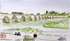 Le Tour de France virtuel - 45 - Loiret (chando*) Tags: croquis sketch aquarelle watercolor france
