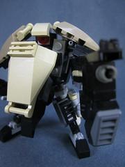 action shot pew pew (Messymaru) Tags: original infantry robot lego grunt mecha mech moc