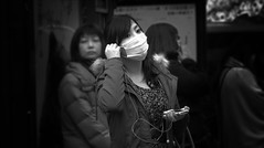 Japanese Facemasks (DILLEmma Photography) Tags: street blackandwhite bw music white streetart black japan asian photography japanese blackwhite amazing scary different mask natural sony culture tourist adventure ill doctor stunning headphones streetphoto alive unusual moment foreign capture sick f828 brilliant authentic allergy reallife illness frightening intimidating facemask