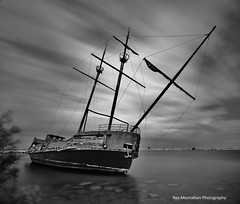 it was a windy and cloudy day (Rex Montalban) Tags: niagara motionblur shipwreck pirateship daytimelongexposure jordanharbour rexmontalbanphotography