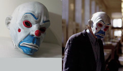 Dark knight Joker Bozo mask (Dean Hartmann) Tags: dark mask bank heath joker knight robbery bozo tdk ledger heist