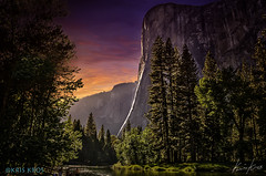 Touched by an Angel (Kris Kros) Tags: california ca trees light sunset sky mountains pine clouds photoshop river painting nose rocks stream shadows cathedral el brush yosemite captain kris elcapitan hdr kk kkg topaz capitan thecathedral thecaptain photomatix kros kriskros dsc5354 hdrunleashed paintingwithkkbrush
