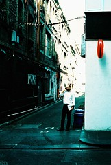 Man Buisiness (Benjamin Gillies) Tags: street film canon 50mm lomo xpro lomography cross kodak melbourne process canonftql ev100