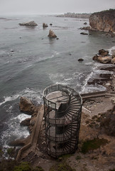 Spiral Staircase to Nowhere - Pismo Beach, CA (ChrisGoldNY) Tags: sweep friendlychallenges challengewinners chrisgoldny chrisgoldberg chrisgold chrisgoldphotos chrisgoldphoto posters poster forsale albumcover albumcovers bookcover bookcovers california centralcoast pismo pismobeach water pacific rocks staircases spirals oceans coast sanluisobispo sanluisobispocounty slo thechallengefactory