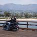 Motorcyclist Couple on the Santa Barbara Pier - California
