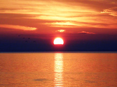 SunSet (A G U I L A T) Tags: sunset sea sky orange sun sol clouds mar cielo nubes puestadesol naranjo