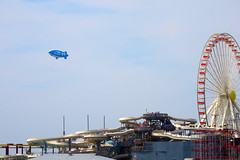 Brothers Vacation Day 5 (7/27/2013) - 29 (nomad7674) Tags: new blue vacation beach wheel pier cross brothers piers horizon north nj july saturday ferris shore jersey blimp boardwalk ferriswheel shield wildwood jerseyshore dirigible moreys 2013 brosv brothersvacation 20130727