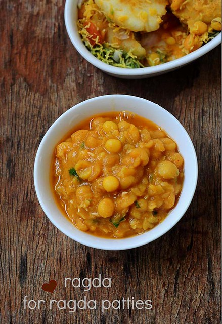 ragda recipe, how to make ragda for ragda patties