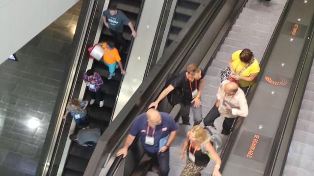 Escalator people at inbound13