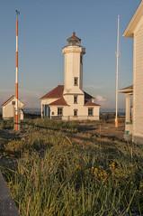 Pt Wilson Lighthouse (NikonDigifan) Tags: lighthouse washington olympicpeninsula pacificnorthwest peninsula tamron goldenhour straitofjuandefuca washingtonpeninsula pointwilsonlighthouse niksoftware viveza nikond300 tamronlenses tamron18270 mikegassphotography