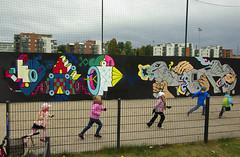 Cold day. Bright colors. (Mr Teophilus Tuhatkauno) Tags: children arabia kap streetartinhelsinki