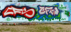 Den Haag Graffiti : CFS (Akbar Sim) Tags: holland netherlands graffiti nederland denhaag thehague cfs agga waldorpstraat akbarsimonse hoflaak akbarsim