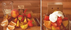 Danbo_fruitsalad (prettyredglasses.com) Tags: fruitsalad danbo metalrobot shinki busoushinki vintagerobot danboard minidanboard minidanbo danboandfriends plasticdanboard