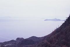 (Kkeina) Tags: sea mountain film japan analog 35mm 50mm islands olympus hiroshima miyajima manual om expired om1
