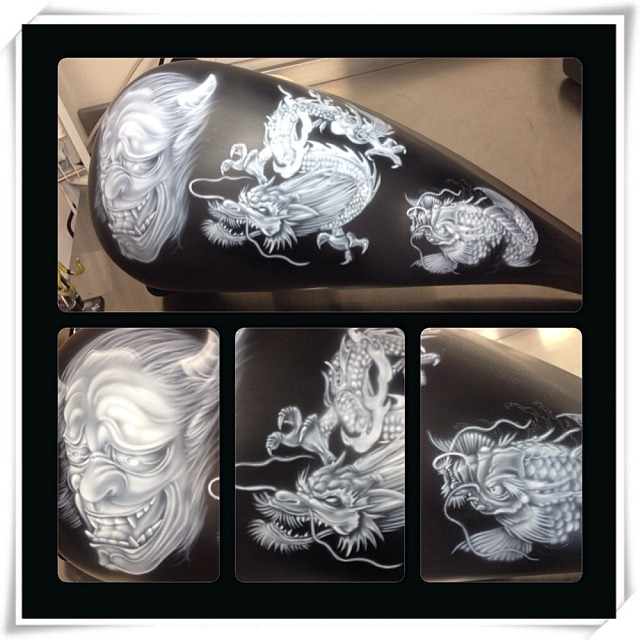The world 39 s best photos of airbrushing and skulls flickr for Koi farm melbourne
