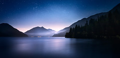 the silence of dawn (posthumus_cake (www.pinnaclephotography.net)) Tags: longexposure lakecrescent lake night sunrise stars dawn washington twilight pacificnorthwest wa astronomy pnw